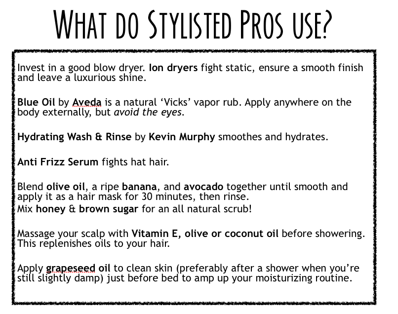 Stylisted - Winter Hair and Makeup Tips