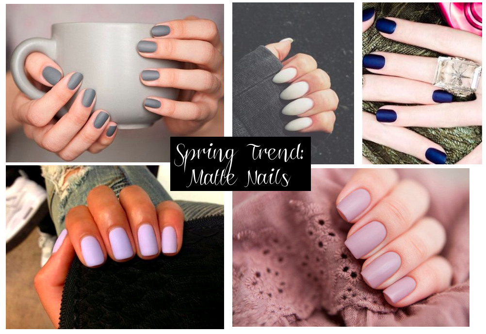 spring 15 inspiration matte nails
